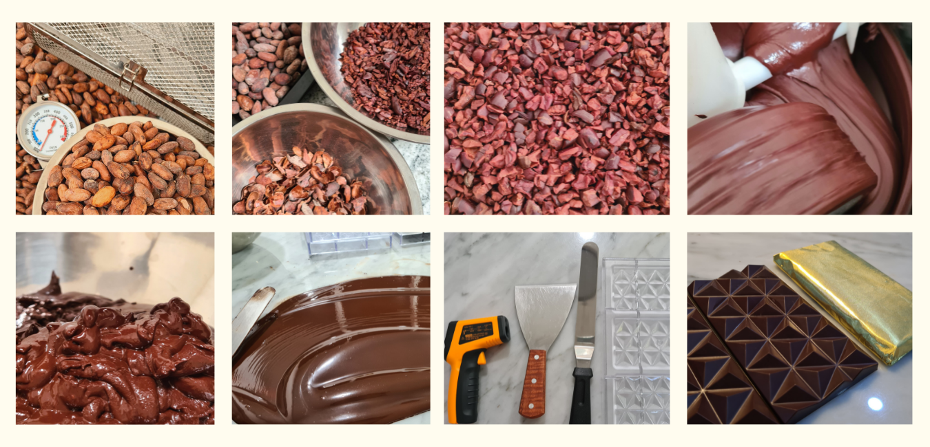 craft chocolate making by Anarchy Chocolate