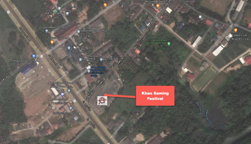 Khao Saming Tree Festival Location Map